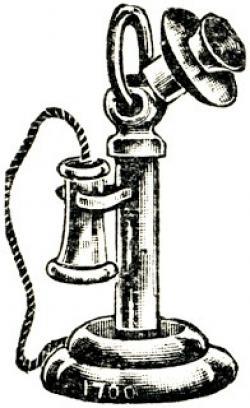 Drawn telephone old telephone