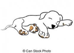 Dalmatian clipart sleeping dog