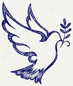 Drawn pidgeons holy spirit