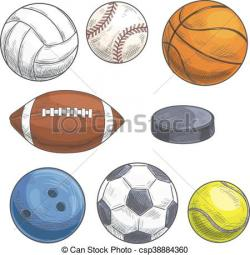Sketch clipart team sport