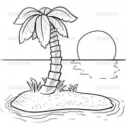 Drawn eiland desert island