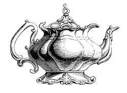 Drawn teapot fancy