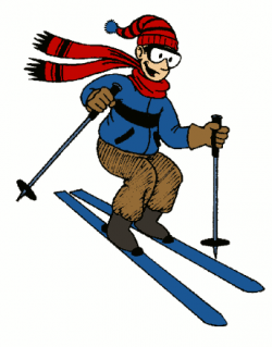 Skiing clipart cartoon