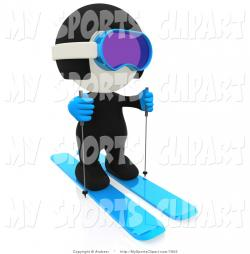 Ski clipart person skiing