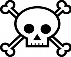 Pirate clipart skull and crossbones