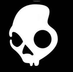 Skullcandy clipart black and white