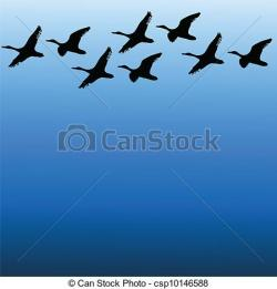 Geese Migration clipart migrating bird