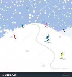 Skiing clipart ski hill
