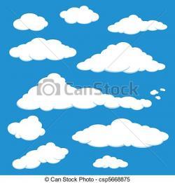 Clouds clipart vector art