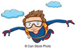 People clipart skydiving
