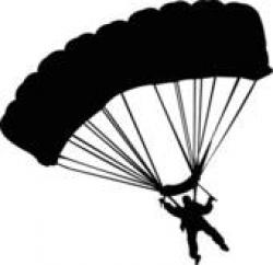 Skydiving clipart