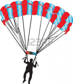 Skydiving clipart chute