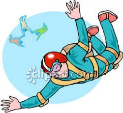 Skydiving clipart man