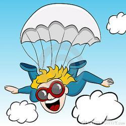 Skydiving clipart parachute jump