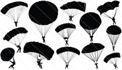 Skydiving clipart paratrooper
