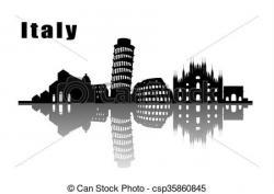 Skyline clipart italy