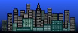 Skyscraper clipart big city