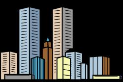 Skyscraper clipart cartoon