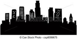 Los Angeles clipart Los Angeles Skyline Clipart