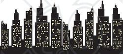 Skyscraper clipart city light