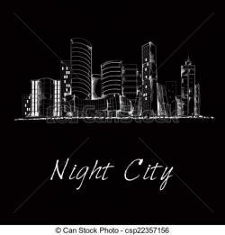 Night clipart cityscape night