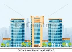 Skyscraper clipart modern building