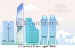 Skyscraper clipart modern city