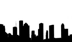 Cityscape clipart silhouette