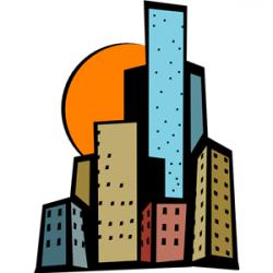 Skyscraper clipart single