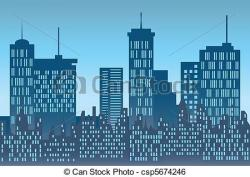 Urban clipart skyline building