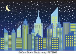 Night Sky clipart night skyline