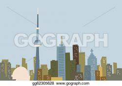 Skyscraper clipart toronto skyline