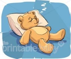 Teddy clipart sleepy