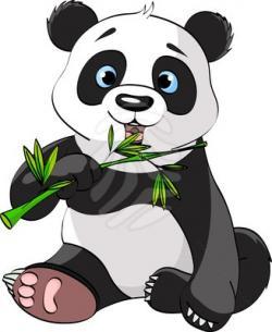 Panda clipart panda bamboo