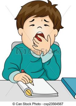 Yawn clipart cartoon