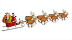 Sleigh clipart father christmas sleigh
