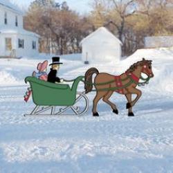 Sleigh clipart one horse open sleigh