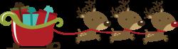 Sleigh clipart reindeer sleigh