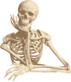 Sleleton clipart osteoporosis