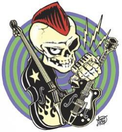 Sleleton clipart rock n roll