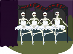 Skeleton clipart skinny