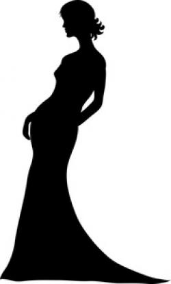 Dress clipart woman in black