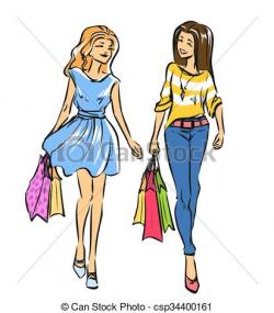 Slender clipart shopping bag