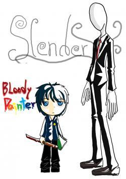Slender Man clipart bloody