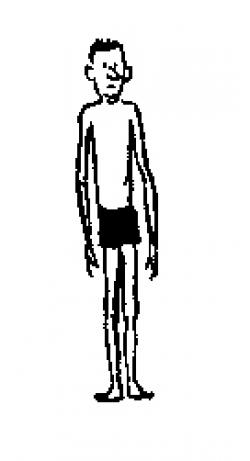 Slender Man clipart skinny person