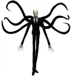 Slender Man clipart tentacle
