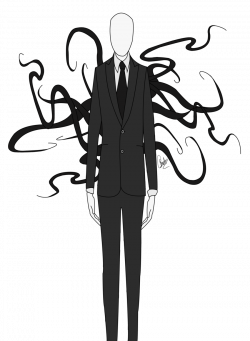 Drawn slender man transparent