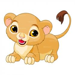 Lioness clipart baby