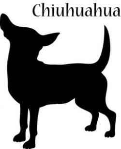 Chihuahua clipart silhouette