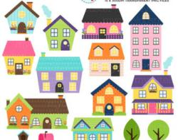 Haunted House clipart townhouse